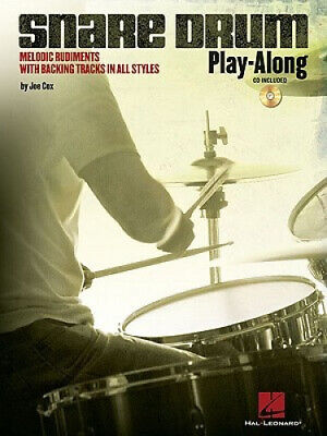 Snare Drum Play-Along: Melodic Rudiments With Backing Tracks In All Styles • 10.93£