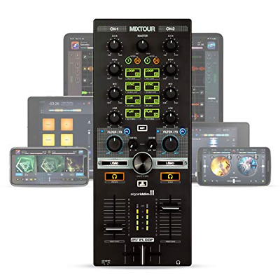 Reloop Mixtour Portable USB All-in-One DJ Controller Black • 195.10£