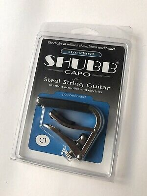Shubb C1 Original Capo For Steel String Guitar Fits Most Acoustic And Electrics • 15.95£