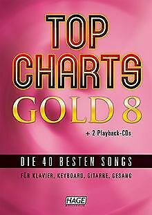 Top Charts Gold 8 Mit 2 Playback CDs: Die 40 Bes...   Book   Condition Very Good • 25.55£