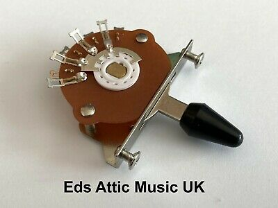 Black Toggle Switch 5 Way For Fender Strat Guitars - Nice Quality - In Stock UK • 9.95£