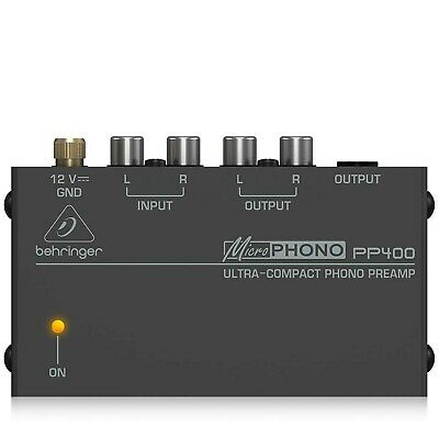 Behringer PP400 Microphono Ultra Compact Phono Preamp Assorted Colour • 37.39£