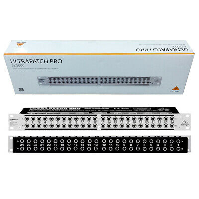 Behringer ULTRAPATCH PRO PX3000 48 Point Balanced Equipment Studio Patch Bay • 112.61£