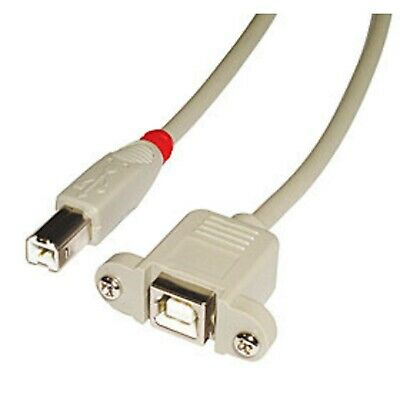 LINDY USB 2.0 Cable Type B/B Extension, Light Grey, 0,5m 0.5m • 12.48£
