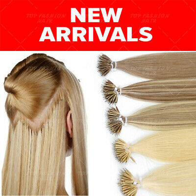 CLEARANCE Nano Ring 100% Human Hair Extensions Remy Micro Loop Tip Ombre THICK • 90.17£