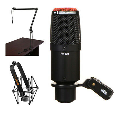 Heil Sound PR 30B Dynamic Cardioid Studio Microphone (Matte Black) Bundle • 214.39£