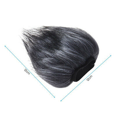 Outdoor Artificial Fur Cover Microphone Windshield For ZOOM H4N H2N Microphone • 3.74£