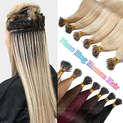 CLEARANCE Micro Nano Ring I Tip Stick Human Remy Hair Extensions 1g/s THICK CC23 • 82.28£