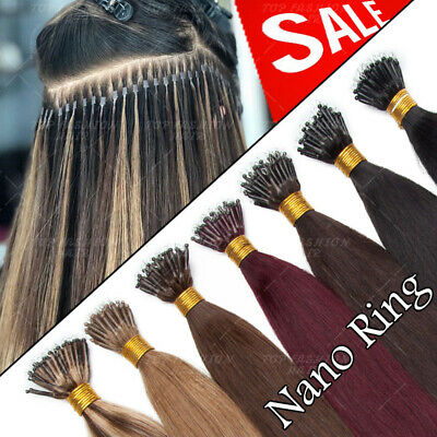 THICK 1g Nano Ring Micro Tip Double Drawn Russian Remy Human Hair Extensions CC7 • 90.17£