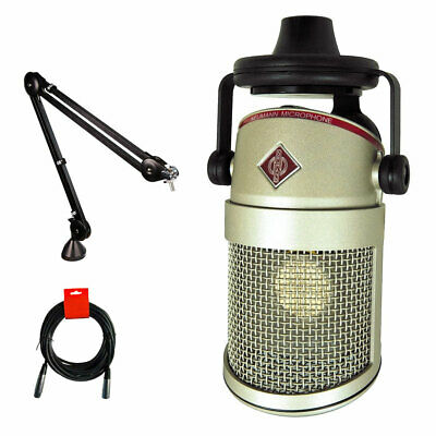 Neumann BCM-104 Condenser Broadcast Microphone W/ Rode PSA1 Boom Arm & Cable Kit • 774.22£