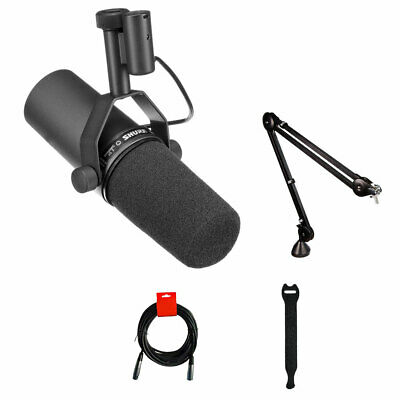 Shure SM7B Cardioid  Dynamic Vocal Mic W/ Rode PSA1 Boom Arm, Cable & Straps • 357.72£