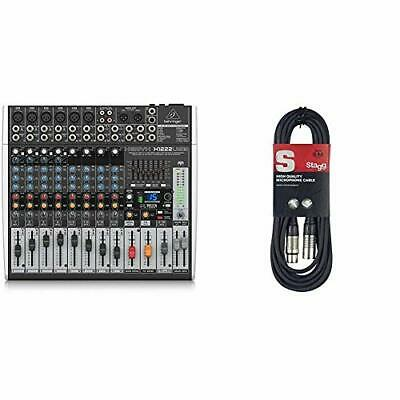 Behringer X1204USB Xenyx 12 Input 2/2 Bus Mixer & Stagg 6m High Quality XLR To • 180.80£