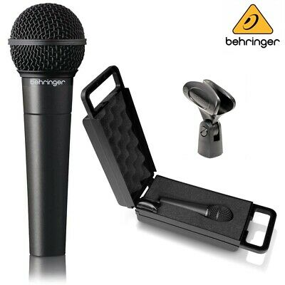 Behringer XM8500 Vocal Microphone - Mic Clip & Plastic Carry Case Bundle • 29.95£