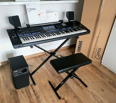 YAMAHA GENOS + Speakers Set + Stand + Stool + Expansion Packs. MINT. Delivery!! • 2,999£