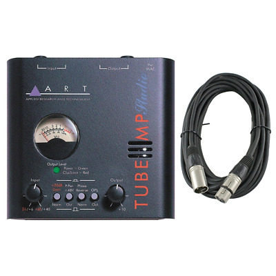 New ART Tube MP Studio Tube Microphone Preamp With Analog VU Meter + XLR Cable! • 50.64£