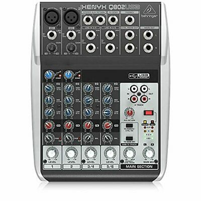 Behringer Premium 8 Input 2 Bus Mixer With XENYX Mic Preamps/Compressors/British • 81.48£