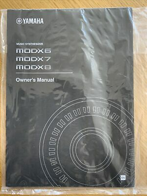 Yamaha MODX6 / MODX7 / MODX8 Synthesizer Owner's Manual Cubase AI Download Code • 19.99£