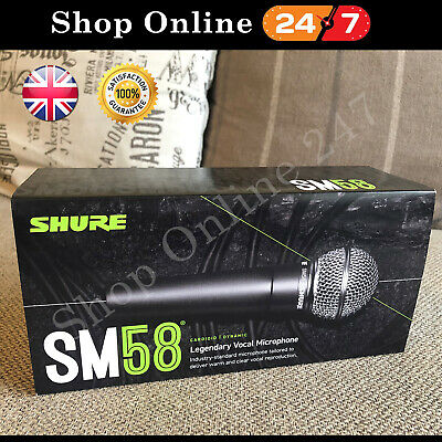 Shure SM58 S With On/Off Switch Dynamic Vocal Microphone | U.K Seller • 79.99£