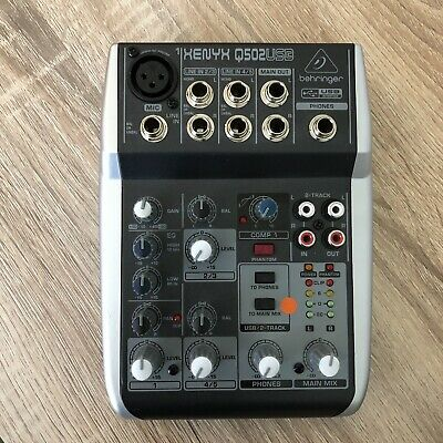 Behringer Xenyx Q502USB 5 Input Mixer & Audio Interface • 46£