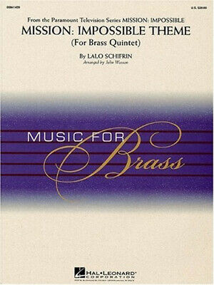 Mission : Impossible Theme For Brass Quintet: Music For Brass By Lalo Schifrin • 23.48£