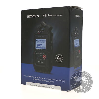 OPEN BOX Zoom H4n Pro 4-Track Portable Recorder Stereo Microphones In Black • 123.03£