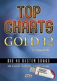 Top Charts Gold 12 (mit 2 CDs + Midifiles, USB-S... | Book | Condition Very Good • 36.34£