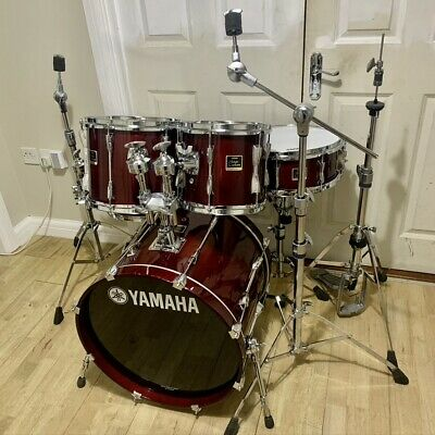 Fully Refurbished Yamaha Stage Custom Drum Kit (Red Lacquer) // Collection Only