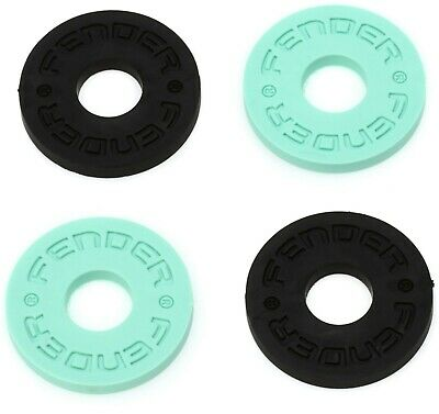 Fender Strap Blocks - Locking System 2 Pairs Colour Surf Green and Black
