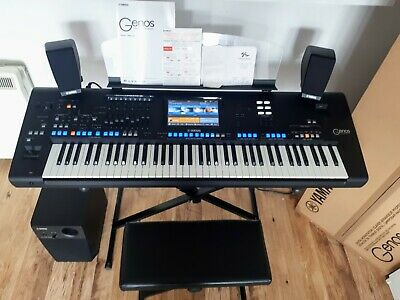 YAMAHA GENOS + Speakers Set + Expansion Packs + Stand. MINT Condition. Delivery. • 2,950£