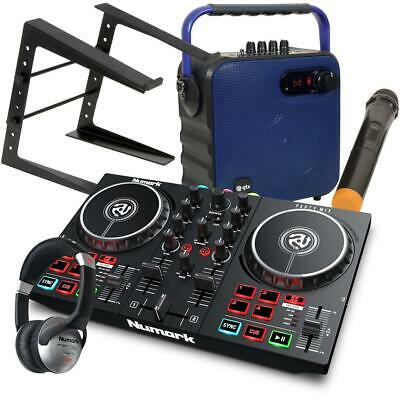 Numark Party Mix II Serato DJ Lite Controller With Speaker B and HF125 LT Stand
