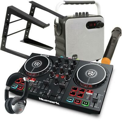 Numark Party Mix II Serato DJ Lite Controller With Speaker W and HF125 LT Stand