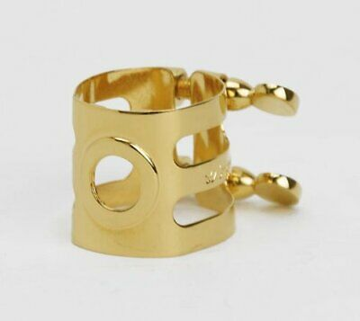 ligature gold plate for wood stone ligature alto sax Selmer from JAPAN [ay6]