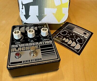 Death By Audio Reverberation Machine guitar pedal