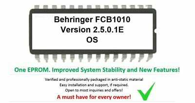 FCB1010 Upgrade - Firmware Update Chip Version 2.50.1E By Behringer