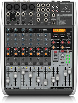 Behringer QX1204USB Premium 12 Input 2/2 Bus Mixer with XENYX Mic, Preamps and C
