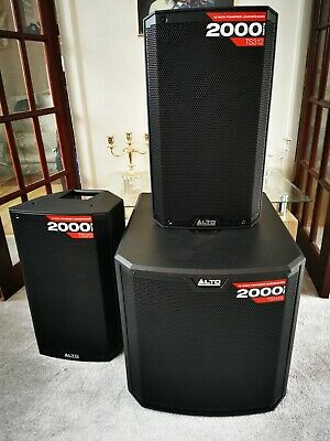 Alto PA DJ Speakers system.2 X TS312 , 1x TS315s Subwoofer. Stands, bags, cables