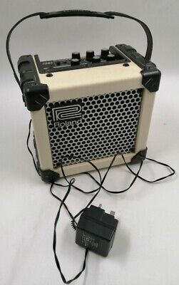 Roland Micro Cube Amplifier White,with mains adaptor (POWERS ON but UNTESTED) D4
