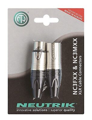 Neutrik NC3FXX & NC3MXX XLR Cable Connectors • 6.95£