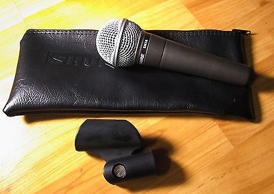 Shure SM58-LC Cardioid Handheld Dynamic Microphone With Zippered Case & Adapter • 71.62£