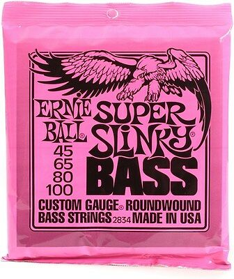 Ernie Ball Super Slinky Bass Strings 45-100 2834 • 19.88£