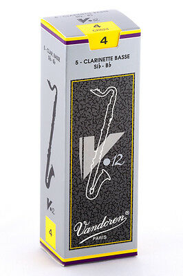 2 Boxes Of Bb Bass Clarinet V12 Reeds - 4 (Vandoren) + Humor Drawing • 28.94£