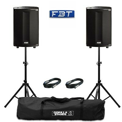 2x FBT ProMaxx 112a Portable 12  1800W Active Stage Club DJ PA Speakers • 1,498£