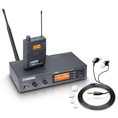 LD Systems MEI1000 IEM In Ear Monitoring System Inc Headphones & Rack Kit Band • 279£