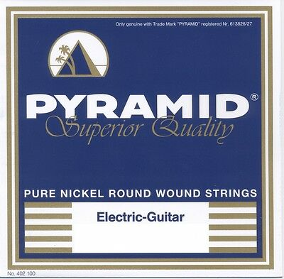 Pyramid Pure Nickel Round Wound E-Guitar Strings Set Electric Guitar Strings • 6.04£