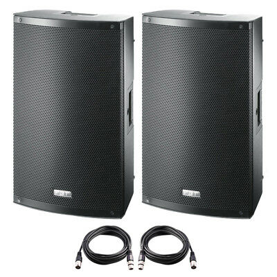 2x FBT X-LITE 10A 10  2000W Powered Active PA Speaker Stage Monitor Disco Band • 664£