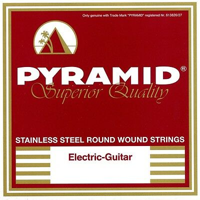 Pyramid Stainless Steel Round Wound E-Guitar Strings Set Electric Guitar • 6.34£