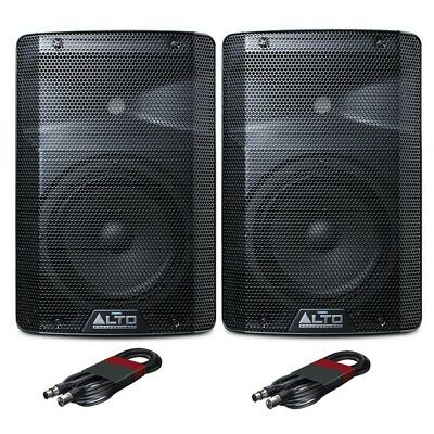 Alto TX208 Active Powered 8  DJ Disco PA Speaker (Pair) With FREE Cables • 189£