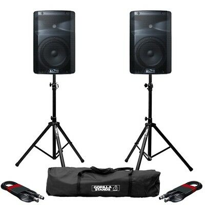 Alto TX208 Active 8  DJ Disco Band PA Speaker With Gorilla Stands & Cables • 219£