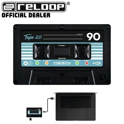 Reloop Tape 2 Portable DJ Cassette Tape Design USB MP3 WAV Audio Recorder • 129£