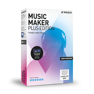 MAGIX Music Maker Plus Edition BOXED New Version Free Instruments Worth £639.00 • 48.99£